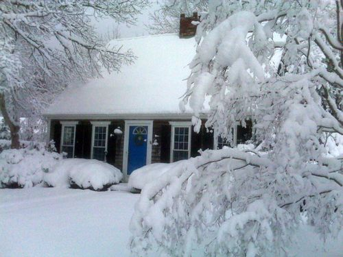Winter in my home in Yarmouth Port, Cape Cod